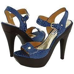Steve Madden Tarneyy Blue Snake Sandals