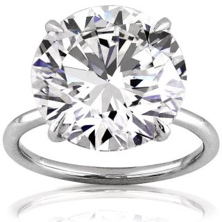 Platinum 10ct TDW GIA Certified Diamond Ring (F, VVS2) (Size 6.5
