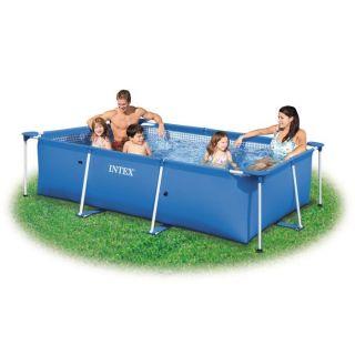 intex metal steel frame pool planschbecken 457 x 91 cm. Black Bedroom Furniture Sets. Home Design Ideas
