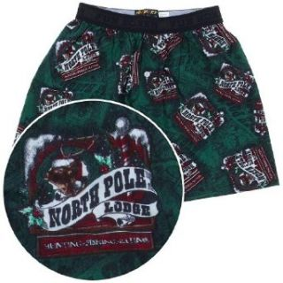 Fun Boxers North Pole Lodge Christmas Boxer Shorts for Men