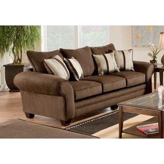 Burlington Waverly Godiva/ Kendu Onyx Pillows Sofa Set
