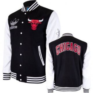 Chicago Bulls Adidas Originals Wool Varsity Jacket   Black