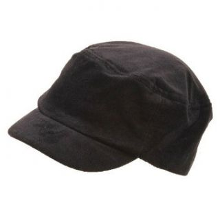 Corduroy Fitted Engineer Cap Black W32S40D Clothing