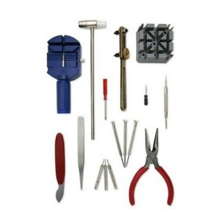 Deluxe 16 piece Watch Repair Tool Kit