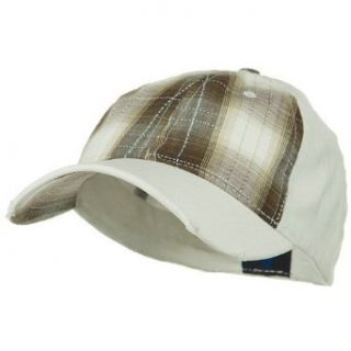 Low Profile Plaid Front Fitted Cap   Brown W32S66E