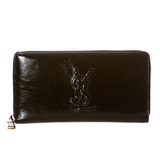 Yves Saint Laurent Belle Du Jour Black Patent Leather Wallet