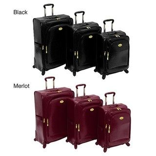 Amelia Earhart Park Avenue Expandable 3 piece Spinner Luggage Set