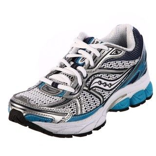 Saucony Womens ProGrid Jazz 14 White/Teal Technical Running Shoes