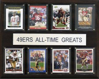 NFL San Francisco 49ers All Time Greats Plaque Sports