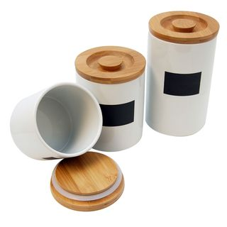 Le Chef Ceramic Storage Canisters (Set of 3)