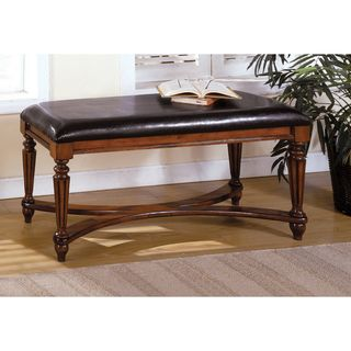Mahogany color Solid Wood Accent Bench