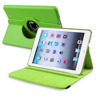 BasAcc Green Leather Swivel Case for Apple iPad Mini