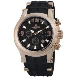 Lancaster Italy Mens Bongo Black Dial Watch