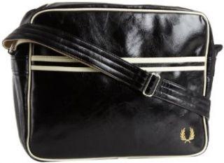 Fred Perry Mens Classic Shoulder Bag, Black/Ecru, One