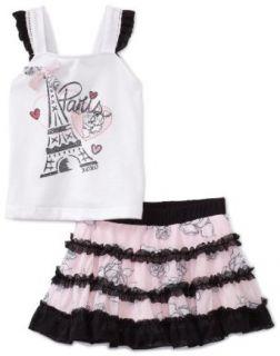 Xoxo Baby girls Infant Paris Skooter Set, White/Pink, 24