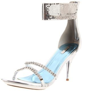 Celeste Womens Ayu Silver Studded Ankle Sandals