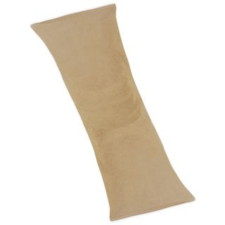 Camel Microsuede Full Length Double Zippered Body Pillow Cover by