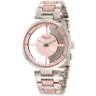 Kenneth Cole Womens Transparency Pink Dial and Steel Quartz Watch
