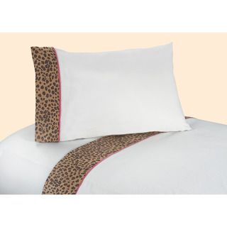 Sweet JoJo Designs Pink and Brown Cheetah Girl Bedding Collection