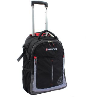 Wenger Swiss Gear Black/Grey 20 inch Rolling Carry on Backpack