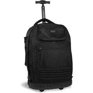 World Parkway Black 20 inch Rolling Laptop Backpack