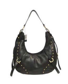TOSCA BLU Italian Designer Black Leather Large Handbag