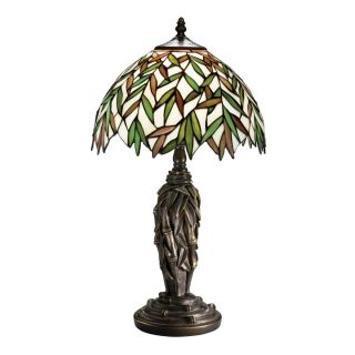 Tiffany style Stained Glass Bronze Finish Table Lamp