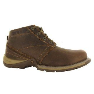 Caterpillar Harding Brown Leather Mens Boots Shoes