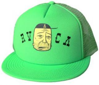 RVCA The Twist Barry McGee Trucker Hat (Neon Green