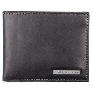 Geoffrey Beene Mens Genuine Leather Passcase Billfold Wallet