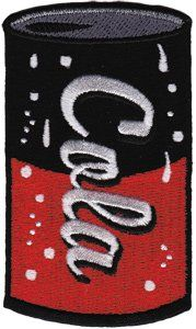 Novelty Iron On   50s Retro Coke Can  Logo Patch