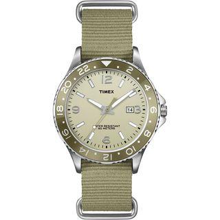 Timex Mens T2P035 Ameritus Sport Olive Green Nylon Slip Thru Strap