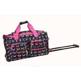 Rockland Deluxe 22 in Butterfly Carry on Rolling Duffel Bag