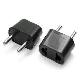 American to European Outlet Plug Adapters (Pack of 2)