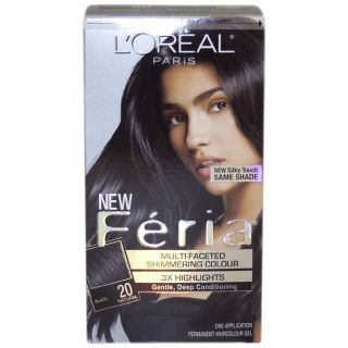 Oreal Feria Natural #20 Black Hair Color