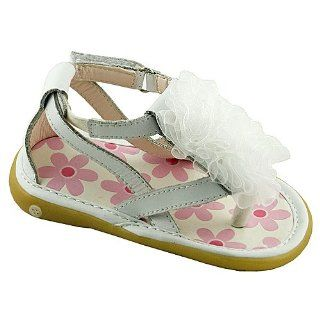 Baby Toddler Girls White Strap Ruffle Sandals 3 12 Wee Squeak Shoes