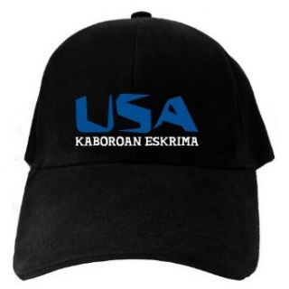 Caps Black Usa Kaboroan Eskrima  Martial Arts Clothing