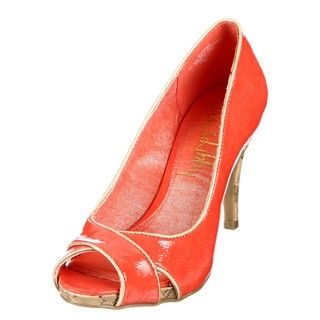Sam & Libby Womens Etched Pink/ Ivory Peep toe Pumps