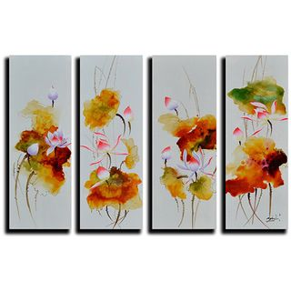 Chrysanthemum Hand painted Oil on Canvas Art Set