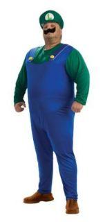 Super Mario Brothers Luigi Costume, Green Plus Clothing