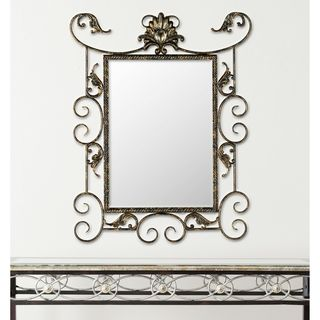 Brenda Antiqued Brown/ Gold Mirror