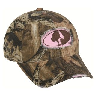 Womens Mossy Oak Camo Frayed Hat