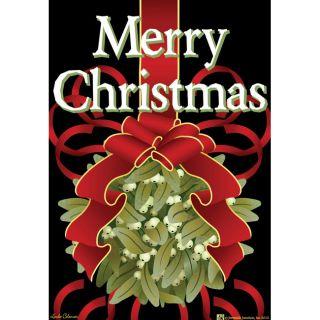 Jeremiah Junction Merry Christmas Mistletoe Garden Flag