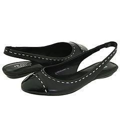 Franco Sarto Anise Black Patent/Black Nappa Flats