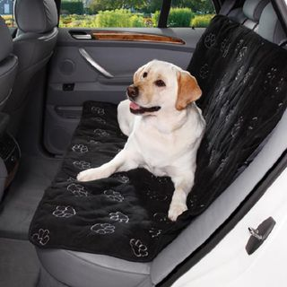 Cruising Companion Black Pawprint Car Seat Cover
