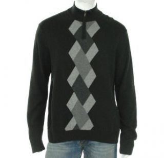 Alfani Argyle Quarter Zip Sweater Clothing