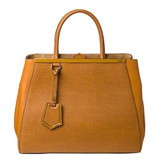 Fendi 2Jours Large Leather Shopper Bag