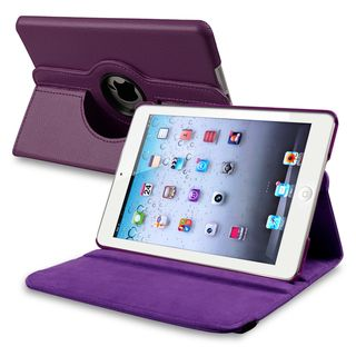 BasAcc Purple Leather Swivel Case for Apple iPad Mini