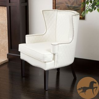 French Provincial White Ostrich Arm Chair