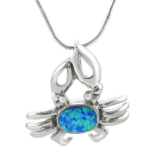 Tressa Sterling Silver Blue Opal Crab Necklace